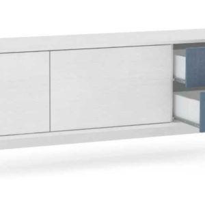 Modern Tv Stand Çifrenk 2 kapak 2 çekmece Beyaz Lake