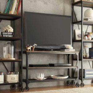 Endüstriyel Tv Ünite Takim Demir Hareketli Ayaklar