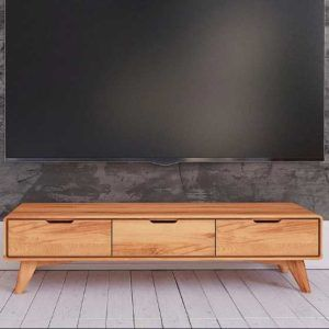Naturel 3 Çekmeceli Masif Tv Stand