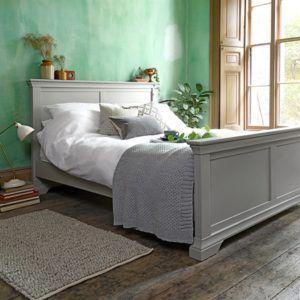 Yatak Odası Karyola Gri Mdf Lake