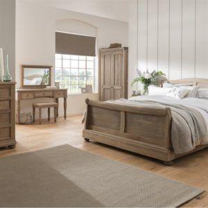 Yatak Odası Takımı Rustik Meşe Masif Naturel 3 Çerçeve Kapak